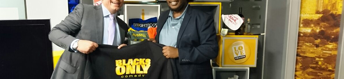 Kagiso Mogadi shares a t-shirt from his first big comedy show