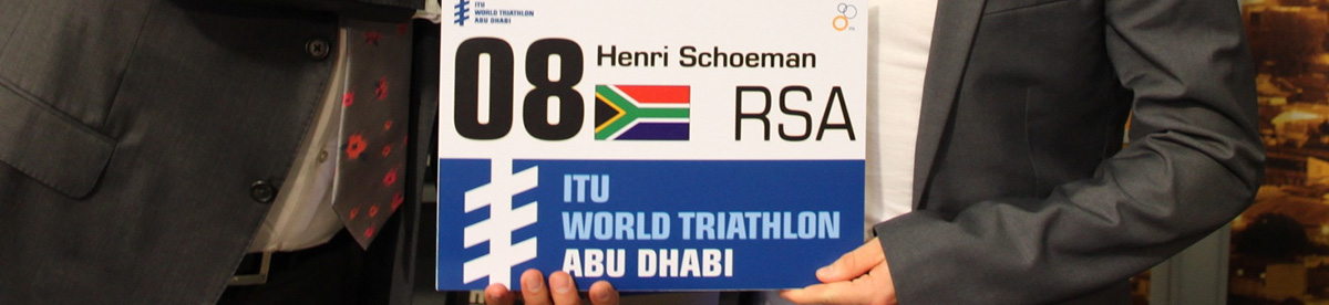 Henri Schoeman shares his lucky number 8 name board