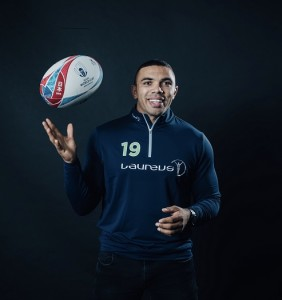 MONACO, MONACO - FEBRUARY 18: Laureus Ambassador Bryan Habana poses during a portrait session on February 18, 2019 in Monaco, Monaco. (Photo by Simon Hofmann/Getty Images for Laureus)